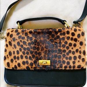 J Crew Leopard Evie Bag EUC